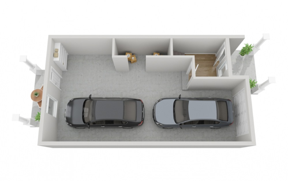 The Olympus - 2 bedroom floorplan layout with 2.5 baths and 1617 square feet. (Floor 1)