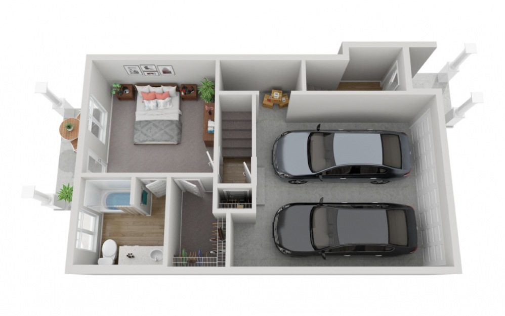 The Sentinel - 4 bedroom floorplan layout with 3.5 baths and 2161 square feet. (Floor 1)