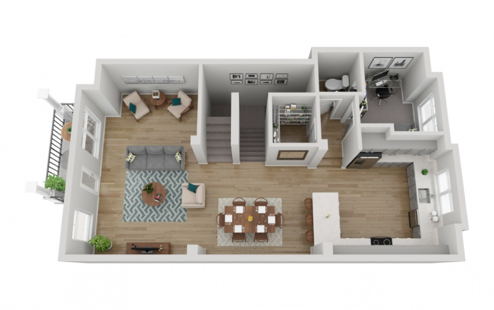 The Sentinel - 4 bedroom floorplan layout with 3.5 baths and 2161 square feet. (Floor 2)