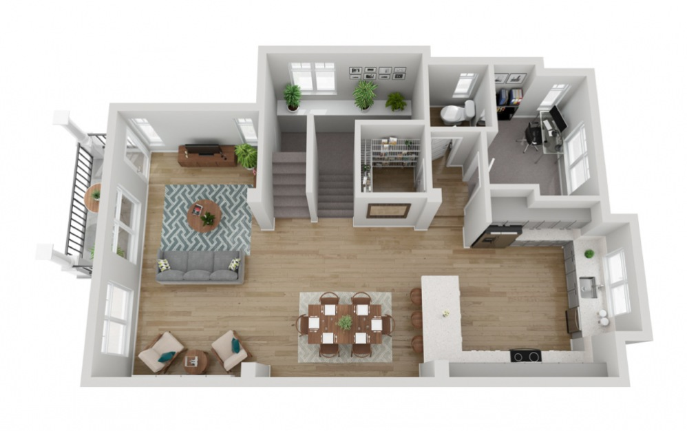 The Glacier - 4 bedroom floorplan layout with 3.5 baths and 2133 to 2187 square feet. (Floor 2)
