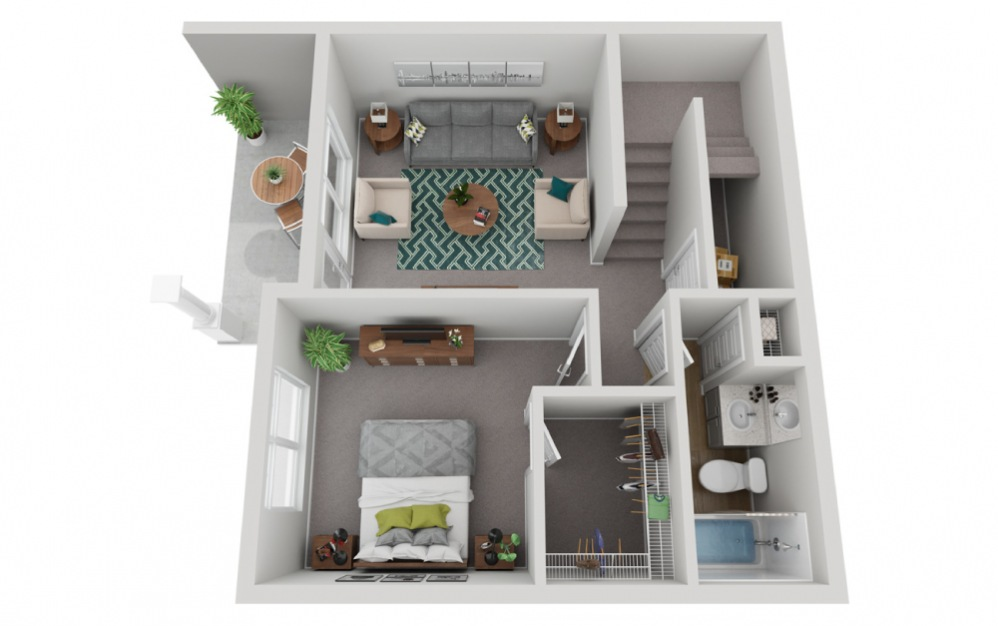 The Rainier - 4 bedroom floorplan layout with 3.5 baths and 2133 to 2330 square feet. (Floor 1)