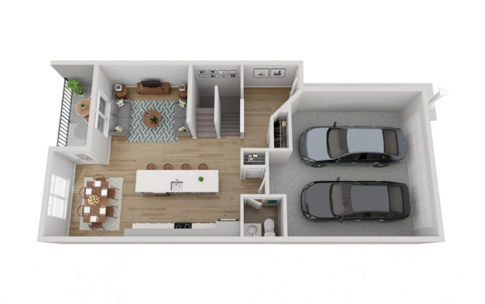 The Rainier - 4 bedroom floorplan layout with 3.5 baths and 2133 to 2330 square feet. (Floor 2)