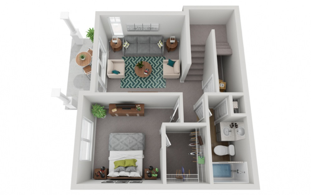 The Anderson - 4 bedroom floorplan layout with 3.5 baths and 2239 to 2244 square feet. (Floor 1)