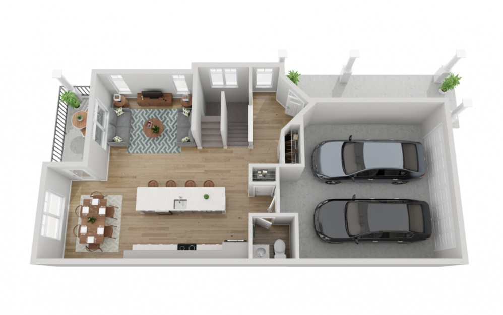 The Anderson - 4 bedroom floorplan layout with 3.5 baths and 2239 to 2244 square feet. (Floor 2)