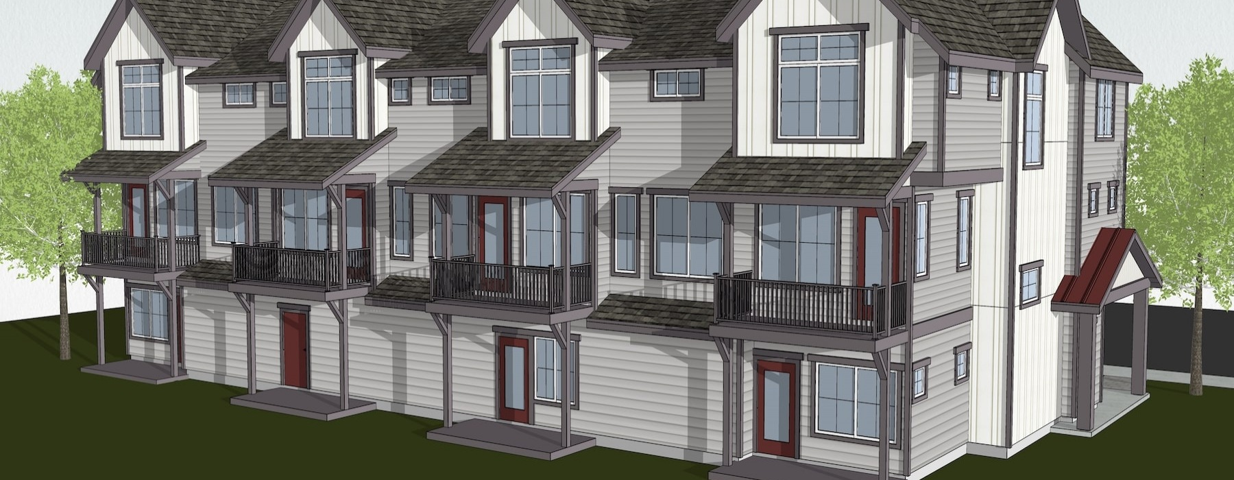 Rendering of Duvall Village Townhomes